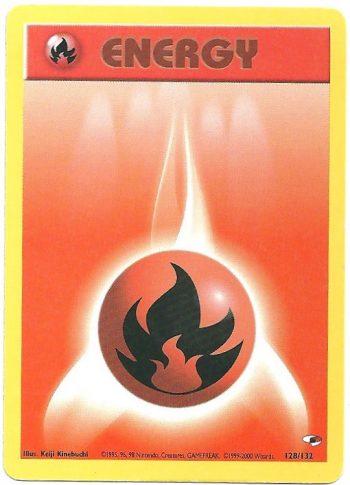 Energia Fuoco Gym Heroes 128132 Comune Carte Pokémon