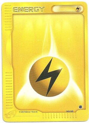 Energia Lampo Expedition 163165 Comune Carte Pokémon