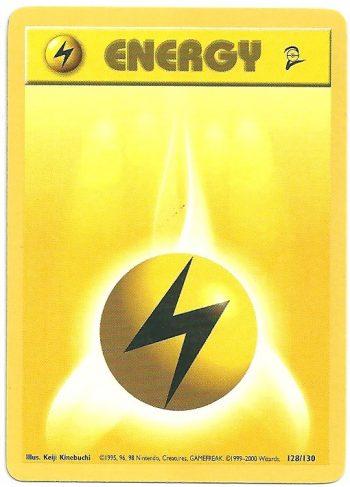 Energia Lampo Set Base 2 128130 Comune Carte Pokémon