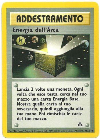 Energia dellArca Neo Discovery 7575 Comune Carte Pokémon