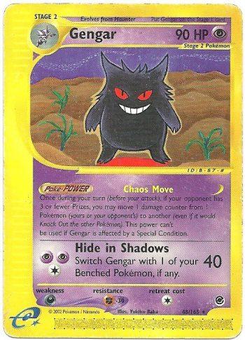 Gengar Expedition 48165 Rara Carte Pokémon