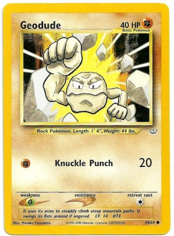 Geodude Neo Revelation 4464 Comune Carte Pokémon