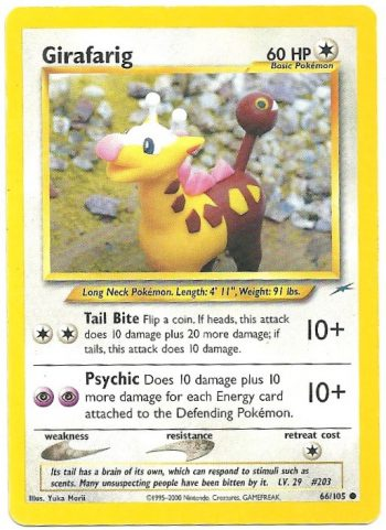 Girafarig Neo Destiny 66105 Comune Carte Pokémon
