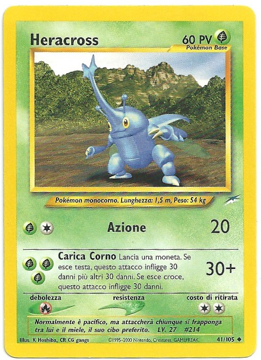 Heracross Neo Destiny 41105 Non Comune Carte Pokémon