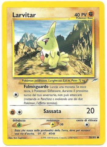 Larvitar Neo Destiny 70105 Comune Carte Pokémon