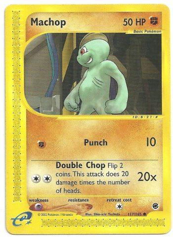 Machop Expedition 117165 Comune Carte Pokémon