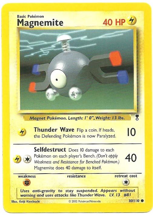 Magnemite Legendary Collection 80110 Comune Carte Pokémon