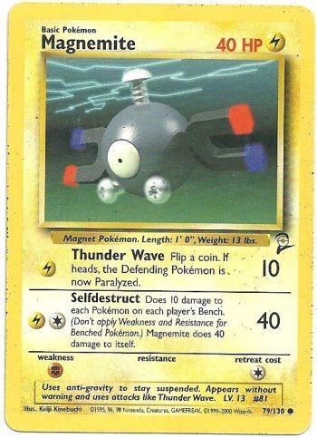 Magnemite Set Base 2 79130 Comune LP Carte Pokémon