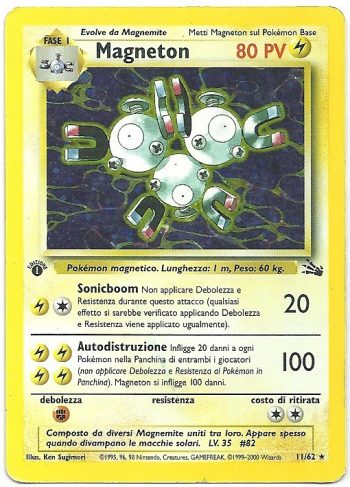 Magneton Fossil 1162 Rara Holo Carte Pokémon