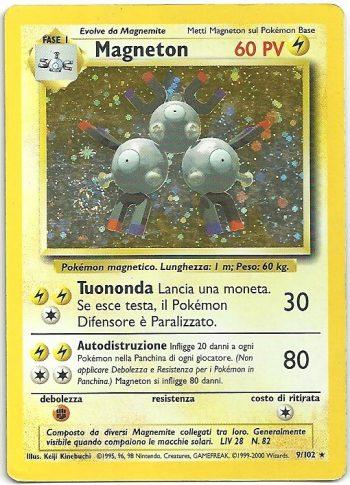 Magneton Set Base 9102 Rara Holo Carte Pokémon