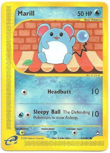 Marill Aquapolis 53147 Non Comune Carte Pokémon