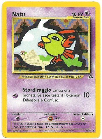 Natu Neo Discovery 5975 Comune Carte Pokémon
