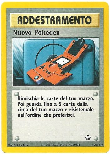 Nuovo Pokédex Neo Genesis 95111 Non Comune Carte Pokémon
