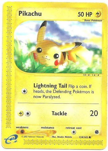 Pikachu Expedition 124165 Comune Carte Pokémon