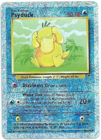 Psyduck Legendary Collection 88110 FOIL Comune Carte Pokémon