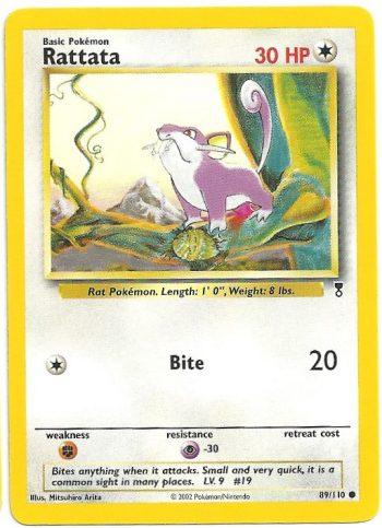 Rattata Legendary Collection 89110 Comune Carte Pokémon