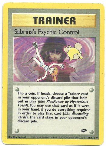 Sabrinas Psychic Control Gym Challenge 121132 Non Comune Carte Pokémon