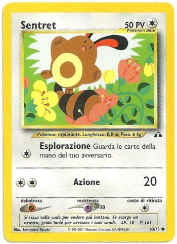 Sentret Neo Discovery 6375 Comune Carte Pokémon