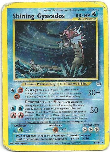 Shining Gyarados Neo Revelation 6564 Shining Carte Pokémon