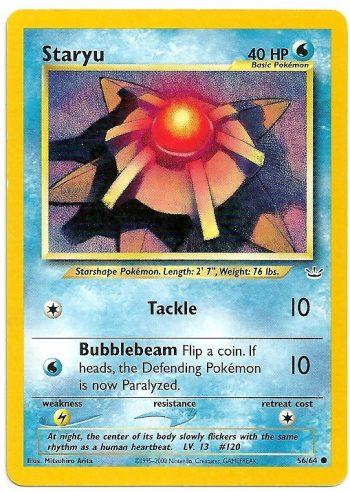 Staryu Neo Revelation 5664 Comune Carte Pokémon