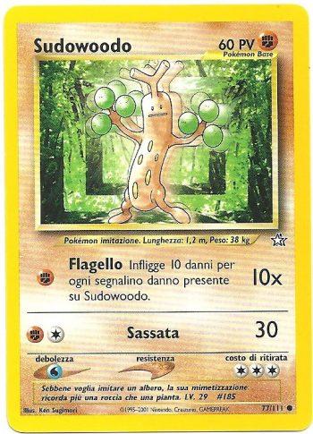 Sudowoodo Neo Genesis 77111 Comune Carte Pokémon
