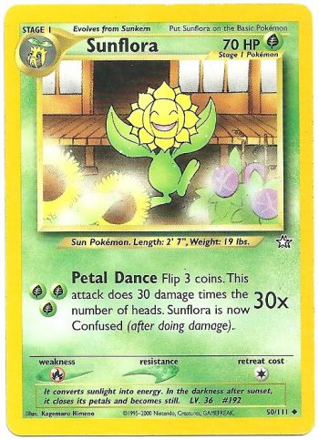 Sunflora Neo Genesis 50111 Non Comune Carte Pokémon
