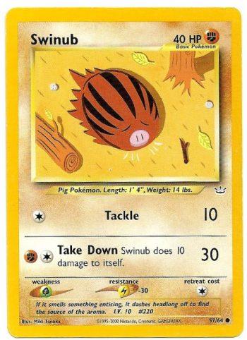 Swinub Neo Revelation 5764 Comune Carte Pokémon