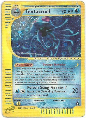 Tentacruel Aquapolis H26H32 Rara Holo Carte Pokémon