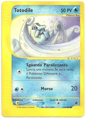 Totodile Expedition 135165 Comune Carte Pokémon