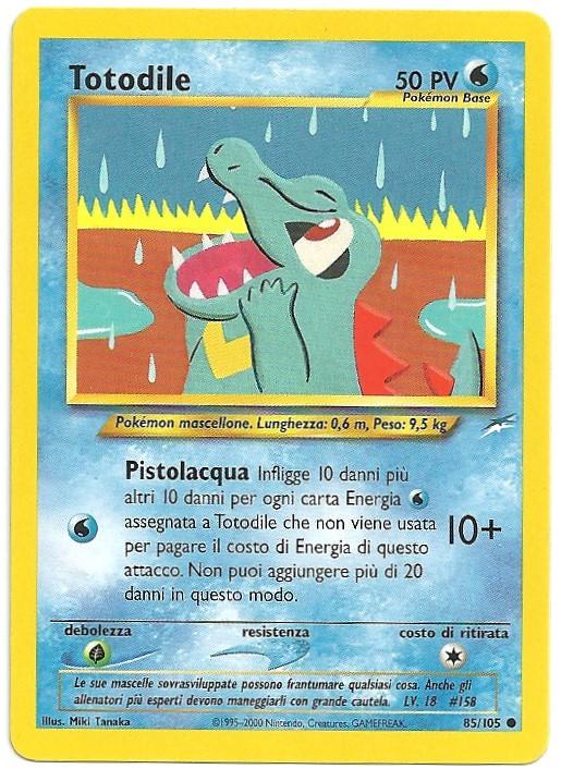 Totodile Neo Destiny 85105 Comune Carte Pokémon