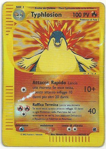 Typhlosion Expedition 64165 Rara Holo Carte Pokémon