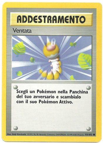 Ventata Set Base 93102 EXC Comune Carte Pokémon
