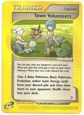 Volontari Cittadini Aquapolis 136147 Non Comune Carte Pokémon