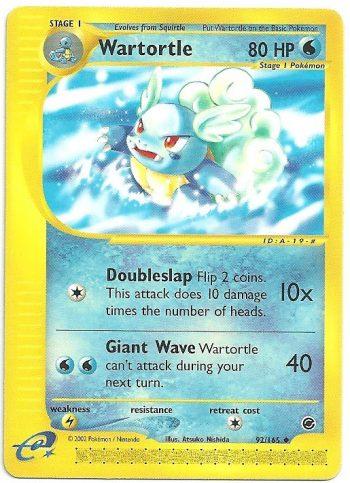 Wartortle Expedition 92165 Non Comune Carte Pokémon