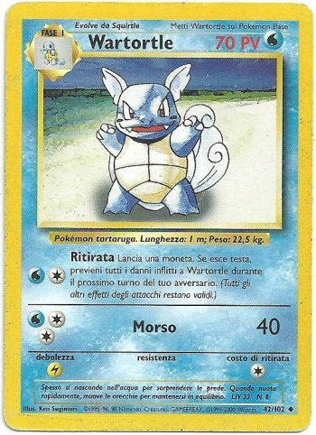 Wartortle Set Base 42102 Non Comune LP Carte Pokémon