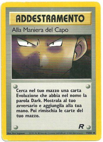 Alla Maniera del Capo Team Rocket 7382 Non Comune Carte Pokémon