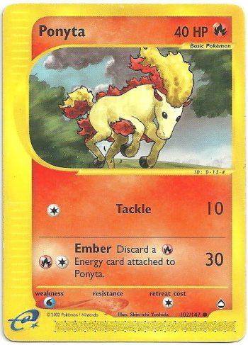 Ponyta Aquapolis 102147 Comune Carte Pokémon