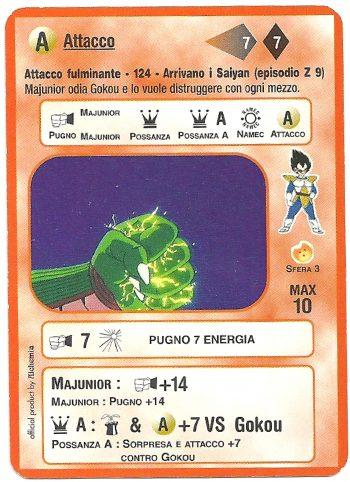 Attacco fulminante 124 Carte da gioco Dragon Ball Alchemia scaled