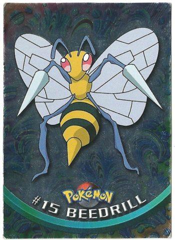 Beedrill 15 Foil Serie 1 Carte Pokémon TOPPS