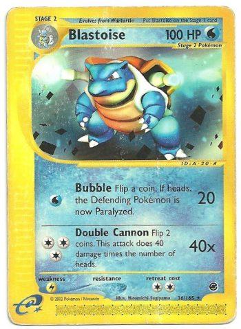 Blastoise Expedition 36165 Rara Carte Pokémon