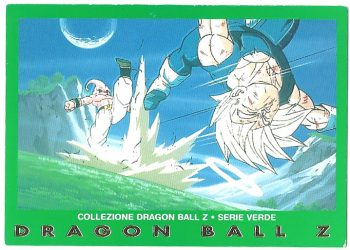Bu originale Vegeta 85 Carte Collezione Dragon Ball Z Serie Verde