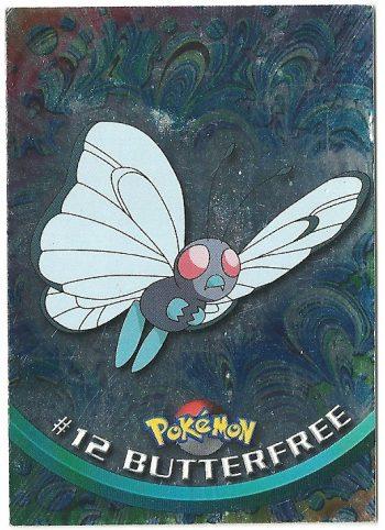Butterfree 12 Foil Serie 1 Carte Pokémon TOPPS