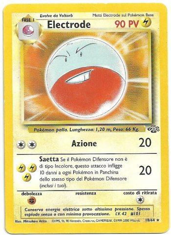 Electrode Jungle 1864 Rara Carte Pokémon