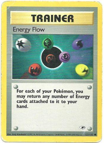 Energy Flow Gym Heroes 122132 Comune Carte Pokémon