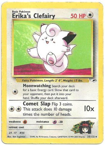 Erika s Clefairy Gym Heroes 25132 Rara Carte Pokémon