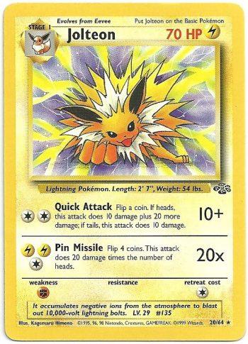 Jolteon Jungle 2064 Rara Carte Pokémon