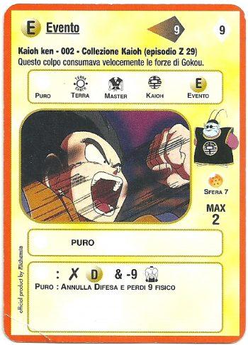 Kaioh ken 002 Carte da gioco Dragon Ball Alchemia scaled