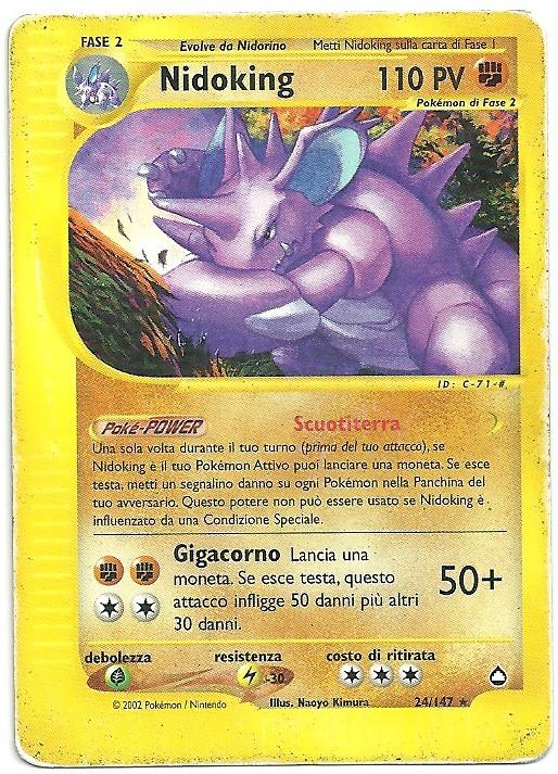 Nidoking Aquapolis 24147 Rara Carte Pokémon