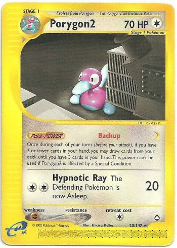 Porygon2 Aquapolis 28147 Rara Carte Pokémon