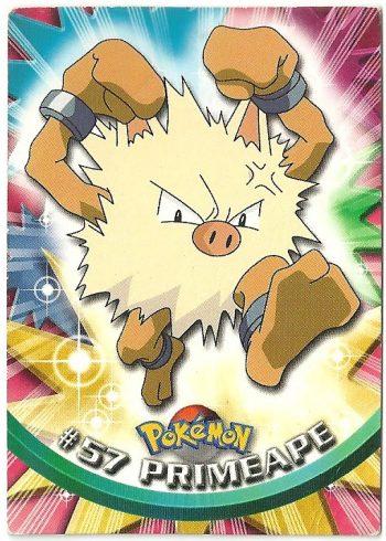 Primeape 57 Serie 1 Carte Pokémon TOPPS